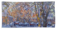 Early Morning Winter Scene Hand Towel
