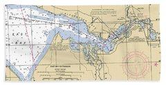 East Bay Extension Noaa Chart 11385_5 Bath Towel
