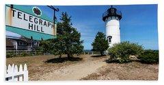 East Chop Lighthouse Marthas Vineyard Bath Towel