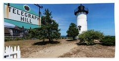 East Chop Lighthouse Marthas Vineyard Hand Towel