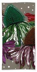 Echinacea Flowers Dance Hand Towel