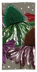 Echinacea Flowers Dance Bath Towel