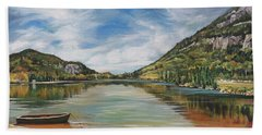 Echo Lake In Franconia Notch New Hampshire Bath Towel