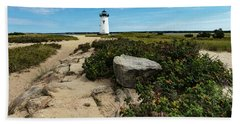 Edgartown Lighthouse Marthas Vineyard Hand Towel