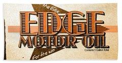 Edge Motor Oil Tin Sign Hand Towel