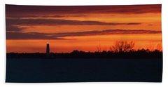 Egmont Key Lighthouse Sunset Hand Towel