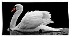 Elegant Swan Hand Towel
