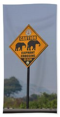 Elephant Crossing Hand Towel