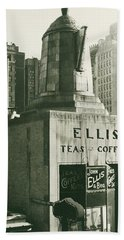 Ellis Tea And Coffee Store, 1945 Hand Towel