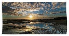 Encinitas Sunset Landscape Format Hand Towel