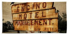 Bath Towel featuring the photograph Encino Hotel by Lou Novick