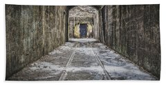 Bath Towel featuring the photograph End Of The Tracks by Steve Stanger