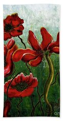 Endless Poppy Love Hand Towel