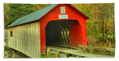 Entrance To The Green River Covered Bridge Hand Towel