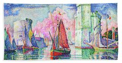 Entrance To The Port Of La Rochelle - Digital Remastered Edition Hand Towel