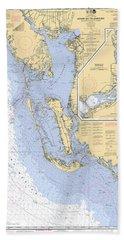 Estero Bay To Lemon Bay, Noaa Chart 11426 Bath Towel