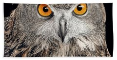 Eurasian Eagle Owl Hand Towel