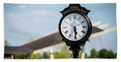 Evans Towne Center Park Clock - Evans Ga Bath Towel