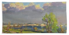 Evening At Gratwick Waterfront Park Hand Towel