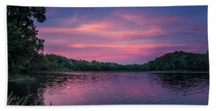 Evening At Springfield Lake Hand Towel