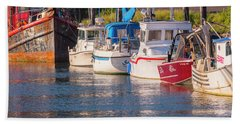 Evening At The Harbor Hand Towel
