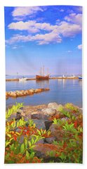 Evening At The York River In Yorktown Virginia Bath Towel