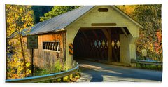 Evening Light At The Dummerston Covered Bridge Hand Towel