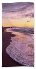 Hand Towel featuring the photograph Evening On Gleneden Beach by Whitney Goodey