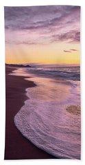 Evening On Gleneden Beach Hand Towel