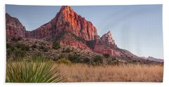 Evening Vista At Zion Hand Towel