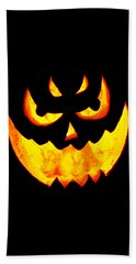 Evil Glowing Pumpkin Bath Towel