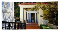 Exterior Courtyard Getty Villa I  Bath Towel
