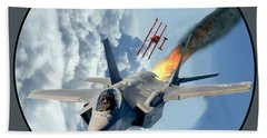 F-35 Vs The Red Baron Hand Towel