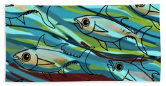 F Is For Fish Hand Towel