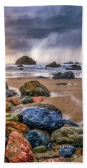 Face Rock Storm Bath Towel