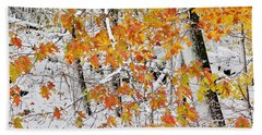 Fall And Snow Hand Towel