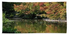 Fall At The Japanese Garden Bath Towel