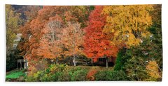 Fall At The Lake Bath Towel