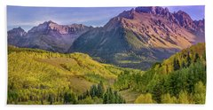 Bath Towel featuring the photograph Fall Color In The San Juan Mountains by James Woody