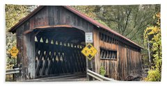 Fall Colors At The Coombs Covered Bridge Hand Towel