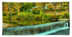 Fall Evening At The Crib Dam Hand Towel