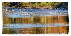 Fall Fishing Reflections Hand Towel
