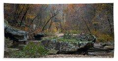 Fall On The Kings River Bath Towel