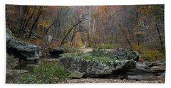 Fall On The Kings River Bath Towel