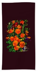 Fall Pansies Bath Towel