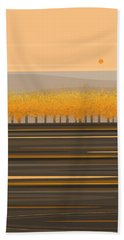 Fall Trees In A Row Hand Towel