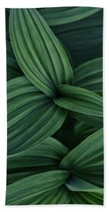 Bath Towel featuring the photograph False Hellebore Plant Abstract by Nathan Bush