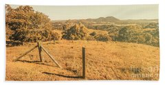 Farm Fields Of Eumundi, Sunshine Coast Bath Towel