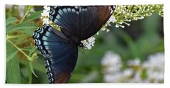 Fascinating Red-spotted Purple Bath Towel