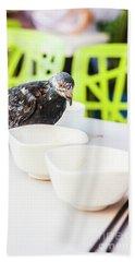 Fast Food Asian Pigeon Bath Towel